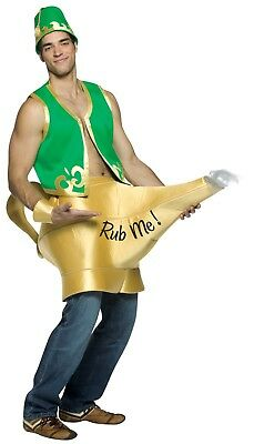Rasta Imposta Genie In The Lamp Rub Me Adult Mens Hallowen Costume 6085](Mens Genie Costume)