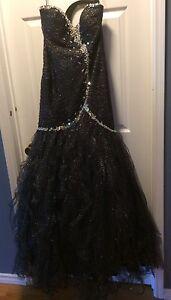 Prom dress, corset back - size 12