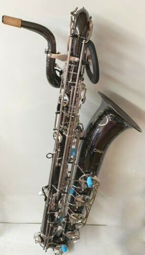 Professional Black nickel Baritone Saxophone Eb  Low A Free Shipping Silver keys