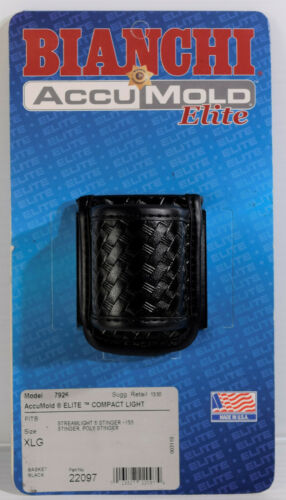 BIANCHI AccuMold Elite Duraskin COMPACT LIGHT HOLDER Basket Black 7926 22097 XLG
