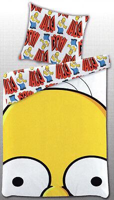 Bettwäsche The Simpsons - Homer Simpson - 135 x 200 cm + 80 x 80 cm - Renforcé ()