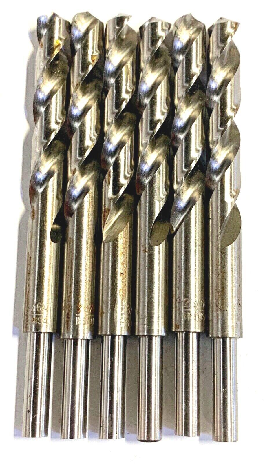 """23/64"""" Drill Bit HSS 1/4"""" Reduced Shank Drills Metal Cutting"""