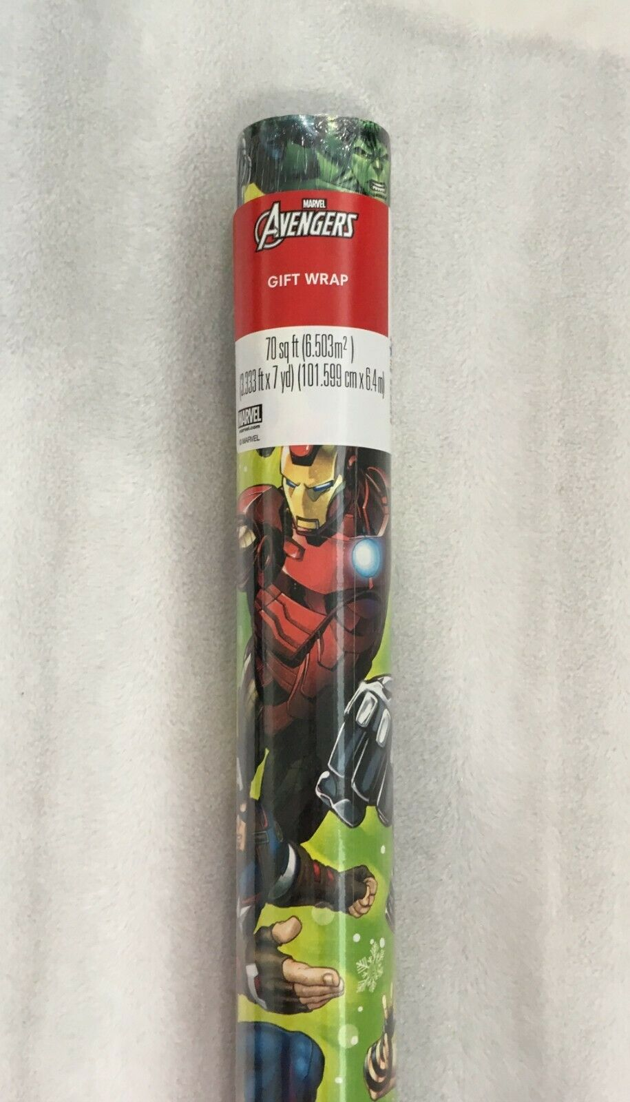 MARVEL AVENGERS CHRISTMAS WRAPPING PAPER / LARGE ROLL 70 SQ.
