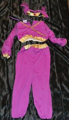 Genie Princess Gypsy Outfit Full Halloween Costume Fits Kid Size M Medium Girls
