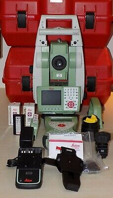 Leica Total Station Ts15 I 1 R400 Robotic And Cs15 Calibrated Free Shipping