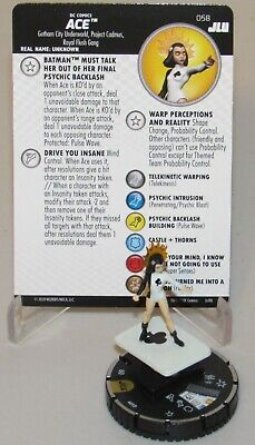 ACE #058 Justice League Unlimited DC HeroClix Super Rare