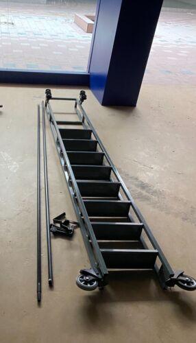 "Trak ladder track rolling shelve shelving  stairs single system 8 step 80"""