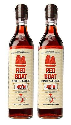 Red Boat Premium Fish Sauce, 500 ml (Pack of 2) Red Sauce Boat