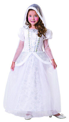 Snow Queen Ice White Princess Xmas Winter Christmas Fairy Fancy Dress Costume - Christmas Fairy Costume