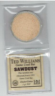 Highland Mint Joe DiMaggio Game Used Bat Sawdust Limited Edition 1 of 500