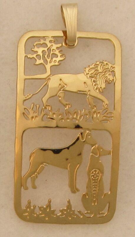 Rhodesian Ridgeback Jewelry Pendant by Touchstone Dog Designs