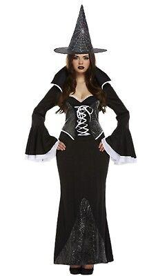 edle schwarze Spinnenfrau Kostüm Hut Spinnennetz Design Halloween Grusel (Schwarze Spinnenfrau Halloween Kostüm)