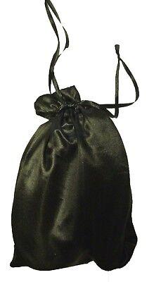 50 pcs 5x7 inch SATIN FAVOR BAGS - Wedding Drawstring Gift Large Pouches BLACK Black Favor Bags