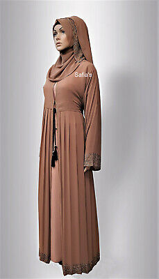 Pleated Chiffon Dubai Abaya with Inner