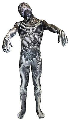 Morph Skull N Bones Adult Costume Morph Suit Alien Monster - Alien Morph Suit