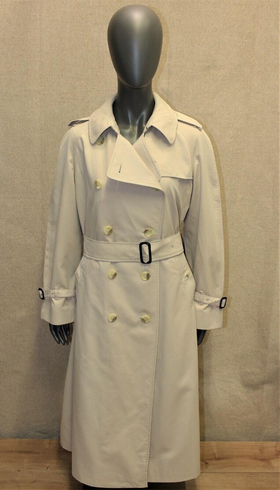 Trench imperméable femme burberry's vintage 70's beige 14 reg made in england