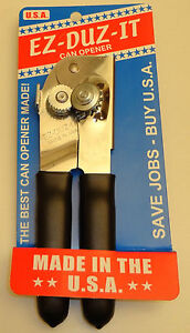 EZ-DUZ-IT #89 American Made Can Opener.  Made in USA.  New.  Black.