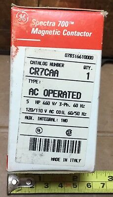 Ge Cr7caa Magnetic Contactor Ac Operated 25amp 660v 3-phase 60hz