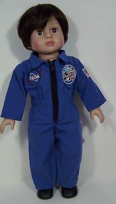 Nasa Work Jumpsuit Uniform Clothes For 18  American Girl   Logan Boy Doll  Debs