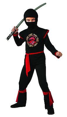 Kids Dragon Ninja Costume Assassin Warrior Size Medium 8-10 - Assassin Costume Kids