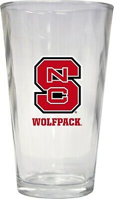 NC State Wolfpack Pint Glass Set-NCAA 16oz Beer Glass 3 -