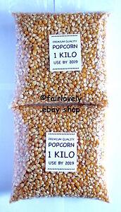 2 KILO (2x1KG) NATURAL Popcorn Pop Corn Maize Seeds Raw Popping Kernels NON-GMO