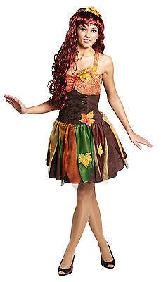 Sexy Herbstfee Gr. 40 Waldfee Fee Elf Karneval Kostüm Damenkostüm Fasching , (Herbst Kostüme)
