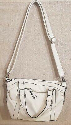 Weiße Damentasche Leder Tasche kleine Handtasche für Damen Frauen Umhängetasche Frauen Weiße Leder