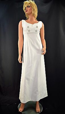 Vintage 60's Five Thirty PM Fashion Mod Formal Cocktail Wedding Dress Gown XS/S