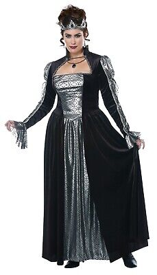Dark Majesty Queen Medieval Renaissance Adult Women Plus Costume  (Adult Medieval Costumes)
