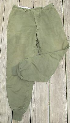 Vtg 1920s LL BEAN Button Fly HUNTING PANTS Suspender Ready BLACK LABEL 34 Waist