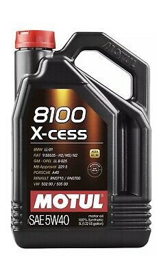 Motul 8100 X-CESS 5W-40 - %100 Synthetic - Engine Oil - 5L #