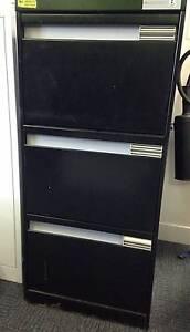 Black 3-drawer Metal Filing Cabinet Brookvale Manly Area Preview