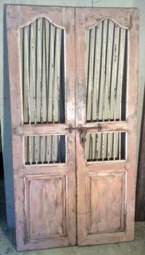 Antique Architectural Salvaged Wood Doors & Iron Doors. Wine Cellar Doors