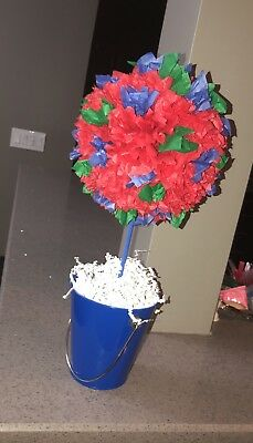 Birthday Party centerpieces Red Blue And Green