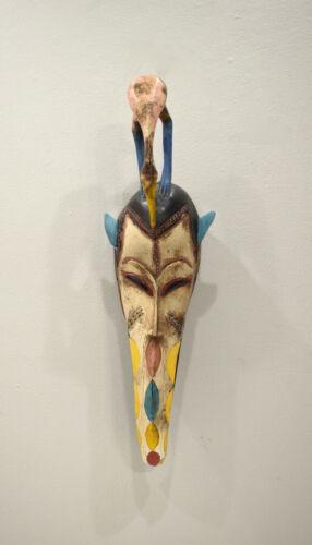 African Mask Baule Tribe Wood Mask Mask Ivory Coast