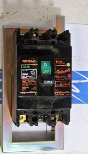 FUJI Electric EG53B  20 amp 3 pole 200v Earth Leakage Circuit Breaker