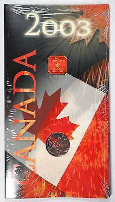 2003 Canada Day Uncirculated 25C Coin   Polar Bear And Colored Maple Leaves