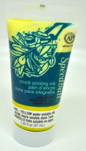 SPEEDBALL® WATER SOLUBLE INK - YELLOW, 1.25 LIQUID OZ