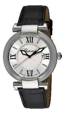 Chopard Women's Imperiale Black Leather Strap Quartz Date Watch 388532-3001 LBK