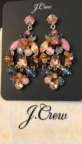 J.Crew BOTANICAL CLUSTER STATEMENT EARRINGS Sold OutNew 65 Pale Blush With Bag  - $34.00