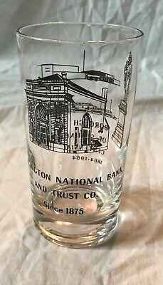 1964 Vintage Slatington (PA) National Bank Centennial Drinking Glass 1864-1964