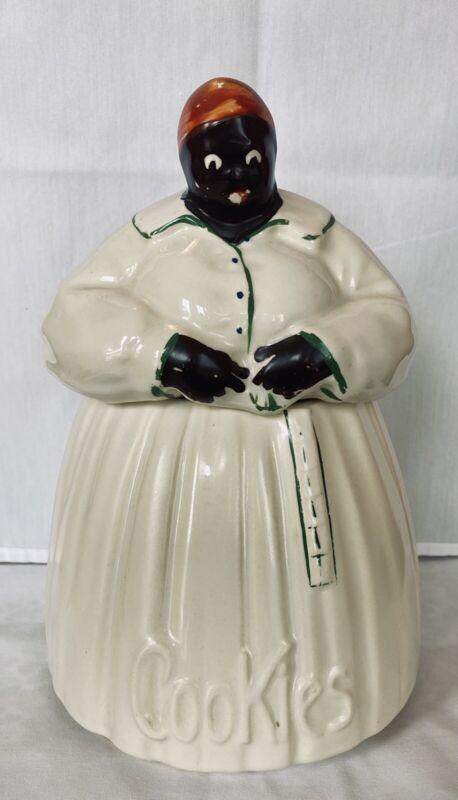 Vintage McCoy Pottery Cookie Jar, 1940s - Black Americana EXCELLENT CONDITION