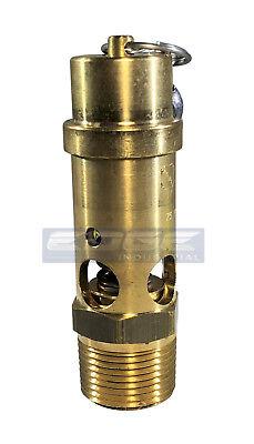 150 Psi Brass Safety Relief Pop Off Pressure Valve Compressor Tank 34 Npt