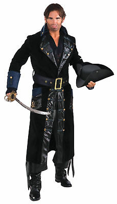 Blackbeard Pirate Adult Mens Costume Black Buccaneer Halloween