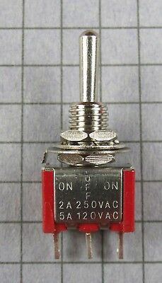 Switchmini Toggle Spdt 3 Position On-off-on 120v 5a 250v 2a Lot Of 2