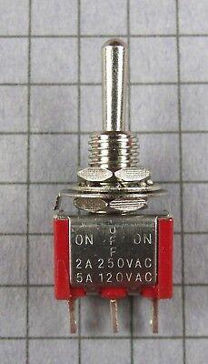Switchmini Toggle Spdt 3 Position On-off-on 120v 5a 250v 2a Lot Of 2