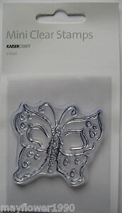 Kaisercraft-Clear-Stamp-Flutterby-BUTTERFLY-Mini