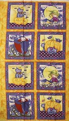 Halloween Happy Haunting Panel By Avlyn Fabrics Btp Price Reduced