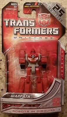Transformers Universe Legends WARPATH 25th Anniversary figure MOC 3 inch tank